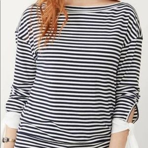 Stella and Dot Striped Long Sleeve Tee 2X
